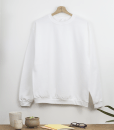 PULL COL ROND BLANC