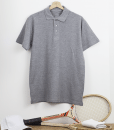 POLO HOMME GRIS CHINE