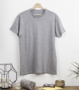 T SHIRT COL ROND GRIS