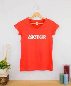 Camiseta clásica cuello en V Mujer (5)